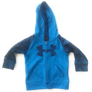 UA under armour 9/12 m sweats jacket boys blue log